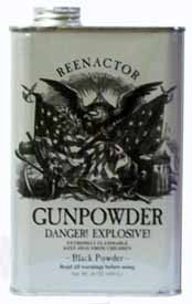 1 pound container of Goex Reenactor black powder